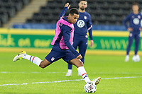 SWANSEA, WALES - NOVEMBER 12: Tyler Adams of the United States warms up during a game between Wales and USMNT at Liberty Stadium on November 12, 2020 in Swansea, Wales.