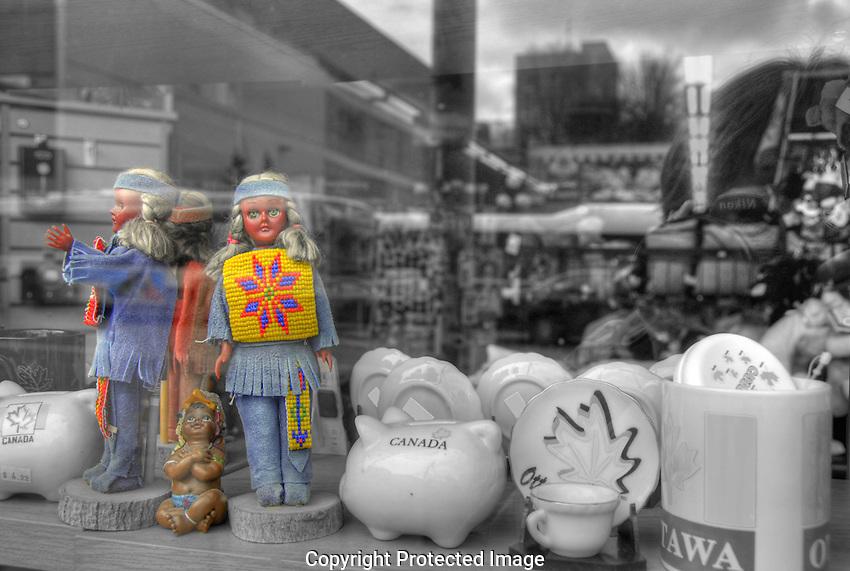 Tasteless tourist junk on Rideau street, Ottawa