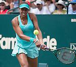 Madison Keys (USA) defeats Lauren Davis (USA) 6-2, 6-2 at the Family Circle Cup in Charleston, South Carolina on April 10, 2015.