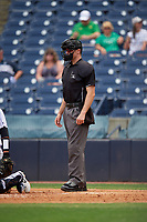 Umpire John Benken during a Florida State League game between the Lakeland Flying Tigers and Tampa Tarpons on April 7, 2019 at George M. Steinbrenner Field in Tampa, Florida.  Tampa defeated Lakeland 3-2.  (Mike Janes/Four Seam Images)