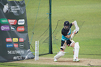 Kane Williamson, New Zealand, batting in the nets during a training session ahead of the ICC World Test Championship Final at the Ageas Bowl on 17th June 2021