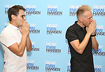 Benj Pasek and Justin Paul attends the National Tour Photo Call for 'Dear Evan Hansen' on September 6, 2018 at the New 42nd Street Studios in New York City.