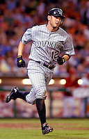 13 June 2006: Clint Barmes, shortstop for the Colorado Rockies, hustles to first during a game against the Washington Nationals at RFK Stadium, in Washington, DC. The Rockies defeated the Nationals 9-2 in the second game of the four-game series...Mandatory Photo Credit: Ed Wolfstein Photo..