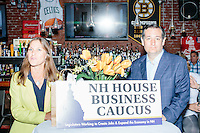Texas senator and Republican presidential candidate Ted Cruz speaks to a crowd at a business round-table at the Draft Sports Bar and Grille in Concord, New Hampshire.