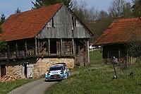 25th April 2021; Zagreb, Croatia; WRC Rally of Croatia, Final stages; Gus Greensmith - Ford Fiesta WRC