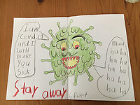 Stay away drawing by Harlow Kitchens, Grade 1, Yarmouth ME, USA,