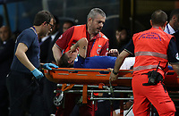 Football: Uefa European under 21 Championship 2019, Italy - Spain Renato Dall'Ara stadium Bologna Italy on June16, 2019.<br /> Italy's Nicolò Zaniolo is taken away on a stretcher after being injured during the Uefa European under 21 Championship 2019 ootball match between Italy and Spain at Renato Dall'Ara stadium in Bologna, Italy on June16, 2019.<br /> UPDATE IMAGES PRESS/Isabella Bonotto