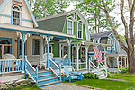 Victorian cottages at Bayside in Northport, ME, USA