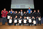 St Johnstone FC Youth Academy Presentation Night at Perth Concert Hall..21.04.14<br /> St Johnstone U12 team with sponsor and coaches<br /> Picture by Graeme Hart.<br /> Copyright Perthshire Picture Agency<br /> Tel: 01738 623350  Mobile: 07990 594431
