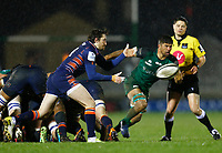 13th March 2021; Galway Sportsgrounds, Galway, Connacht, Ireland; Guinness Pro 14 Rugby, Connacht versus Edinburgh; Henry Pyrgos plays the ball out for Edinburgh