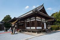 Japan, Okayama Prefecture, Kurashiki. Shrine in Tsuru gata yama park.