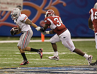Daniel Herron of Ohio State in action against Arkansas during 77th Annual Allstate Sugar Bowl Classic at Louisiana Superdome in New Orleans, Louisiana on January 4th, 2011.  Ohio State defeated Arkansas, 31-26.