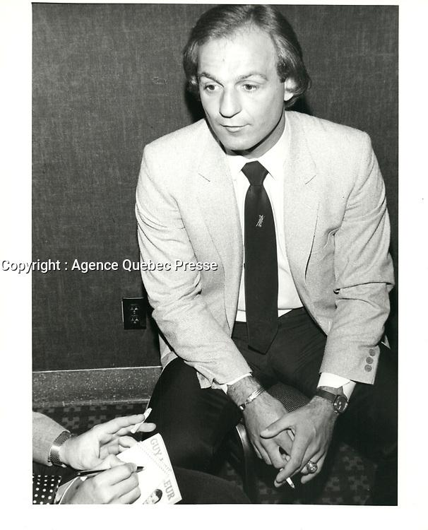 Photos d'archives de Guy Lafleur en 1981 (date exacte inconue)<br /> PHOTO : Agence Quebec Presse