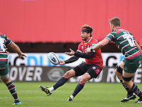 30th August 2020; Kingsholm Stadium, Gloucester, Gloucestershire, England; English Premiership Rugby, Gloucester versus Leicester Tigers; Danny Cipriani of Gloucester passes the ball down the line