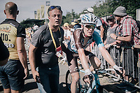 Jan Bakelants (BEL/AG2R-LaMondiale) rolling in after having spent the whole stage in the breakaway<br /> <br /> 104th Tour de France 2017<br /> Stage 5 - Vittel › La Planche des Belles Filles (160km)