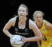 New Zealand's Camilla Lees in the New World Quad series netball match, Claudelands Arena, Hamilton, New Zealand, Thursday, November 01, 2012. Credit:NINZ / Dianne Manson.