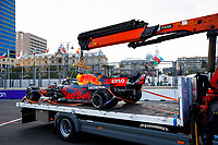 VERSTAPPEN Max (ned), Red Bull Racing Honda RB16B after his crash during the Formula 1 Azerbaijan Grand Prix 2021 from June 04 to 06, 2021 on the Baku City Circuit, in Baku, Azerbaijan - <br /> FORMULA 1 : Grand Prix Azerbaijan <br /> 06/06/2021 <br /> Photo DPPI/Panoramic/Insidefoto <br /> ITALY ONLY