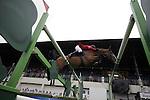 August 09, 2009: Philippe Le Jeune (BEL) aboard Vigo D Arsouilles competing in the Grand Prix event. Longines International Grand Prix. Failte Ireland Horse Show. The RDS, Dublin, Ireland.