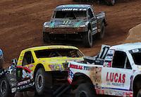 Mar. 20, 2011; Chandler, AZ, USA;  LOORRS pro two driver Jeremy McGrath (top) during round two at Firebird International Raceway. Mandatory Credit: Mark J. Rebilas-