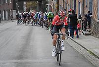Tim Wellens (BEL/Lotto Soudal) tries to escape from the peloton up the brutal Côte de Saint-Nicolas <br /> <br /> 103rd Liège-Bastogne-Liège 2017 (1.UWT)<br /> One Day Race: Liège › Ans (258km)