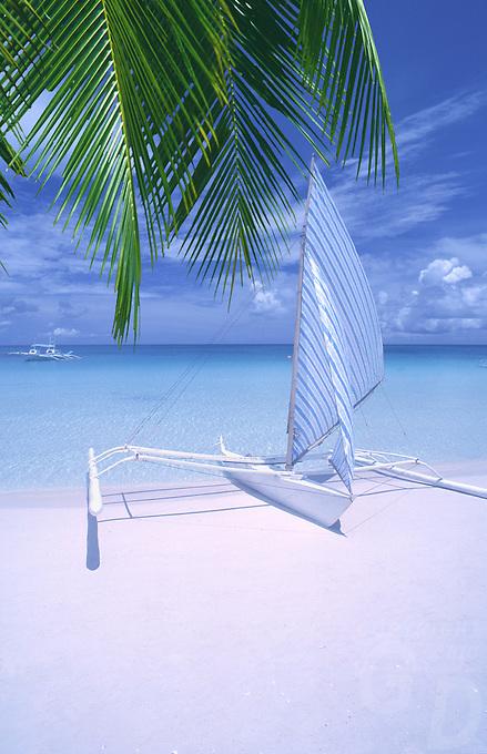 The famous Boracay White Beach,Philippines