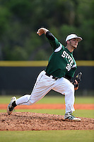 Farmingdale State Rams Dalton McCarthy during a game against the U-Mass Boston Beacons at North Charlotte Regional Park on March 19, 2015 in Port Charlotte, Florida.  U-Mass Boston defeated Farmingdale 9-5.  (Mike Janes/Four Seam Images)