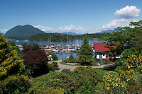 Overlooking the Harbour at Tofino, on Vancouver Island, British Columbia, Canada