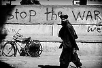 Peaceful slogans are seen on the walls of Herat, 20 September 2013. (John D McHugh)
