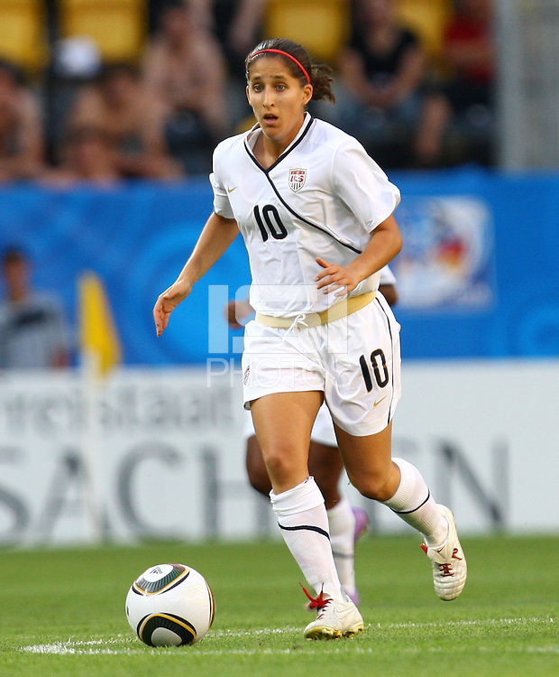USA's Teresa Noyola during the FIFA U20 Women's World Cup at the Rudolf Harbig Stadium in Dresden, Germany on July 14th, 2010.