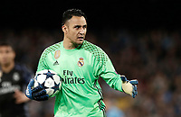 Football Soccer: UEFA Champions League Round of 16 second leg, Napoli-Real Madrid, San Paolo stadium, Naples, Italy, March 7, 2017. <br /> Real Madrid's goalkeeper Keylor Nava in action during the Champions League football soccer match between Napoli and Real Madrid at the San Paolo stadium, 7 March 2017. <br /> Real Madrid won 3-1 to reach the quarter-finals.<br /> UPDATE IMAGES PRESS/Isabella Bonotto