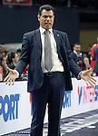 CSKA Moscow's coach Dimitris Itoudis during Euroleague Semifinal match. May 15,2015. (ALTERPHOTOS/Acero)
