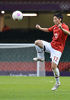 July 31, 2012..Japan's Kyoko Yano (12) in action during Group F Women's Football match between JPN and RSA at the Millennium Stadium on day four of 2012 Olympic Games in Cardiff, United Kingdom...