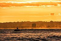 A jet skier enjoys Maunalua Bay in Hawai'i Kai, East O'ahu.