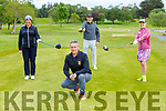 Killarney Captain Harry O'Neill with Ailish and Terrance Mulcahy and Christine Carroll who were back playing golf in Killarney Golf club on Monday