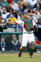 Miguel Ojeda of Mexico during the World Baseball Championships at Angel Stadium in Anaheim,California on March 16, 2006. Photo by Larry Goren/Four Seam Images