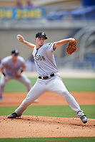 Jackson Generals starting pitcher Taylor Clarke (36) delivers a pitch during a game against the Biloxi Shuckers on April 23, 2017 at MGM Park in Biloxi, Mississippi.  Biloxi defeated Jackson 3-2.  (Mike Janes/Four Seam Images)