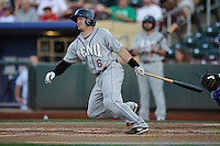 Reno Aces catcher Ryan Budde #6 swings during the game against the Omaha Storm Chasers at Werner Park on August 3, 2012 in Omaha, Nebraska.(Dennis Hubbard/Four Seam Images)