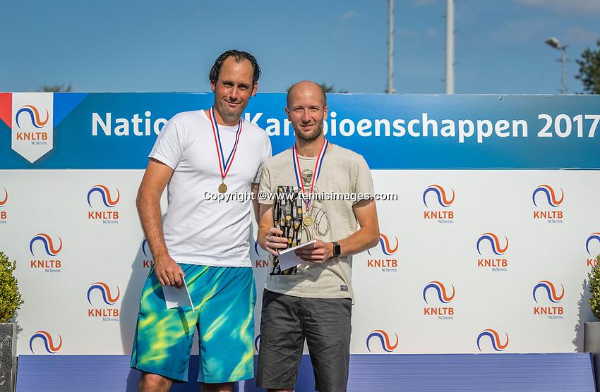 Etten-Leur, The Netherlands, August 27, 2017,  TC Etten, NVK, Winner  men's 35+ , Romano Frantzen (R) and runner up Floris Killian <br /> Photo: Tennisimages/Henk Koster