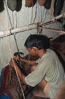 Indien, Rajasthan, Jaipur, Teppichweber