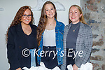 Enjoying the evening in Bella Bia on Friday, l to r: Niamh, Sarah and Patriz Brosnan.