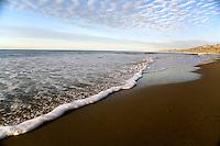 Walking along the gaviota coast, looking toward point conception, Santa Barbara, California.