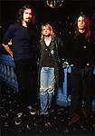 Various portraits of the rock band, Nirvana