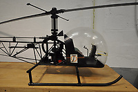 BNPS.co.uk (01202) 558833. <br /> Pic: H&HClassics/BNPS<br /> <br /> A model helicopter that was used in the filming of the James Bond film 'You Only Live Twice' is tipped to sell for £22,000.<br /> <br /> The 9ft long model black Bell 47G helicopter was built for the 1967 film's classic mountain chase dogfight sequence.<br /> <br /> Sean Connery's 007 is pursued in his tiny 'Little Nellie' Auto Gyro plane by four enemy Bell 47G helicopters, which were all specially made for the film.