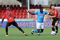 Tiemoue Bakayoko of SSC Napoli and Artur Ionita of Benevento Calcio compete for the ball<br /> during the Serie A football match between Benevento Calcio and SSC Napoli at stadio Ciro Vigorito in Benevento (Italy), October 25th, 2020. <br /> Photo Cesare Purini / Insidefoto