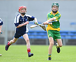 Adam Sheil of Bridgetown in action against Billy Moroney of Kilkishen/O Callaghan's Mills during their Schools Division 5 final at Cusack Park. Photograph by John Kelly