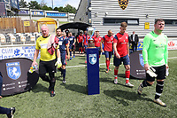 Kent FA Sunday Premier Cup Final. Dolphin Kings United (Red shirts) V Chatham Town Sundays (Blue shirts)