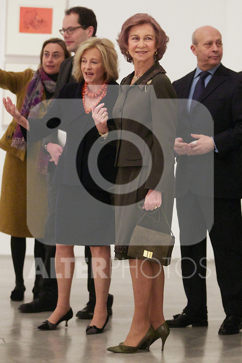 Spain's queen Sofia and collection owner Patricia Phelps de Cisneros opens a new exposition at Reina Sofia Museum. January 22, 2013. (ALTERPHOTOS/Alvaro Hernandez)