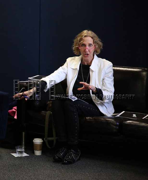 Songwriter/composer Kathy Sommer during the MAESTRA May Meeting with guest speaker Bonnie Comley at The New York SongSpace on May 8, 2019 in New York City.