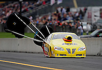 Oct. 1, 2011; Mohnton, PA, USA: NHRA pro stock driver Rodger Brogdon during qualifying for the Auto Plus Nationals at Maple Grove Raceway. Mandatory Credit: Mark J. Rebilas-