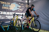 Tom Pidcock (GBR/U23/Telenet Fidea Lions) warming up pre-race<br /> <br /> U23 race<br /> CX Super Prestige Zonhoven 2017